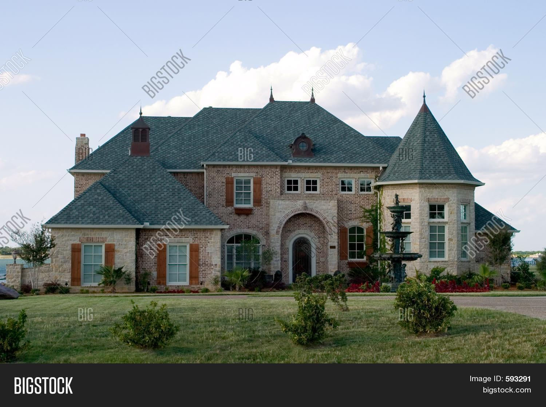 Huge Brick House On Image Photo Free Trial Bigstock