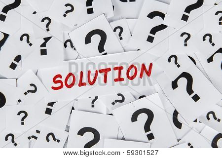 Solution with Question Marks