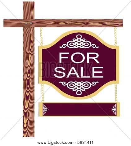 Fancy For Sale Sign Blank Rider