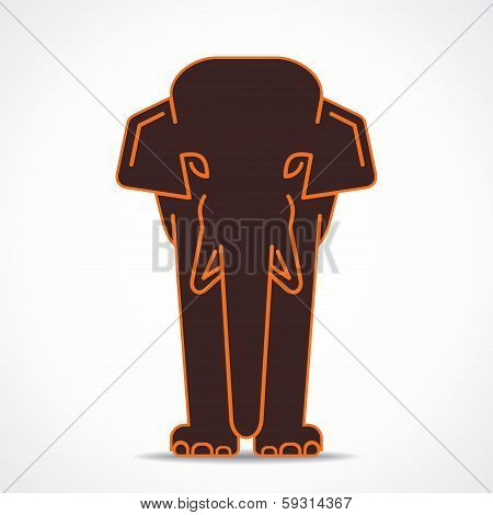 creative elephant design stock vector
