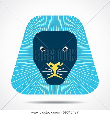 lion cartoon face stock vector