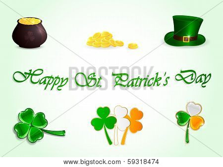Set of Patricks day icons