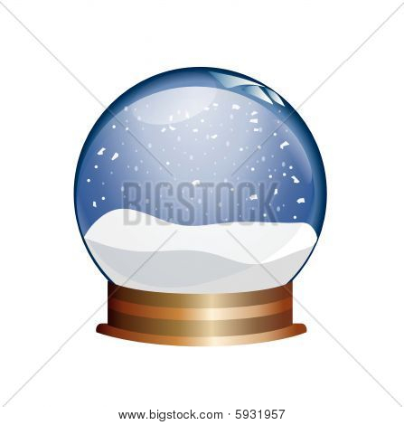 snowglobe on white background
