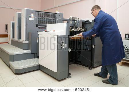 Working Offset Printer