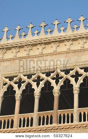 Windows At The Doges Palace In Venice