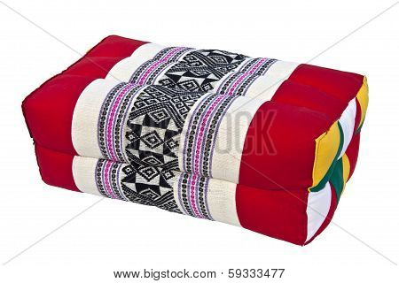 Thai Esan traditional pillow. The local name for this type of pillow is Mhonkhid or Mhonkid. poster