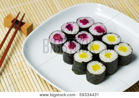 Cucumber Sushi Ready To Eat
