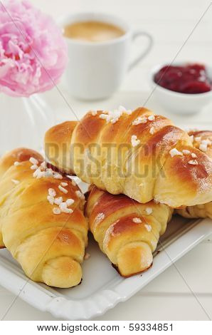 Freshly Baked Croissant for breakfast.