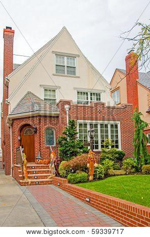 Brownstones in Bay Ridge, Brooklyn, USA