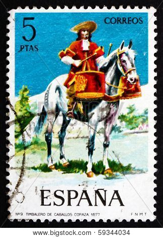 Postage Stamp Spain 1974 Mounted Drummer Of The Dragoons