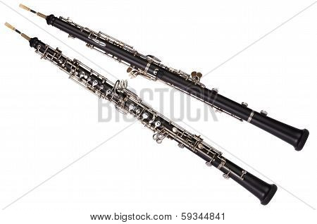 Oboe Front And Rear View