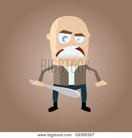 angry hooligan cartoon