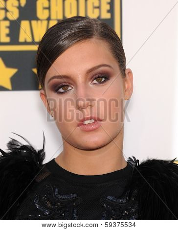 LOS ANGELES - JAN 16:  Adele Exarchopoulos arrives to the Critics' Choice Movie Awards 2014  on January 16, 2014 in Santa Monica, CA