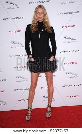 LOS ANGELES - NOV 19:  Jodie Kidd arrives to the Jaguar F-TYPE Global Reveal Event  on November 19, 2013 in Playa Vista, CA
