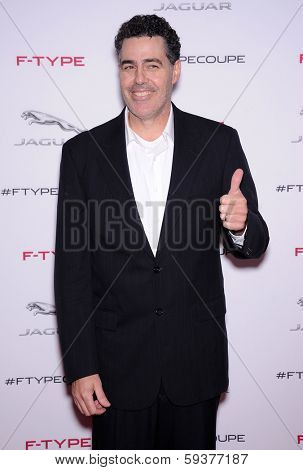 LOS ANGELES - NOV 19:  Adam Carolla arrives to the Jaguar F-TYPE Global Reveal Event  on November 19, 2013 in Playa Vista, CA