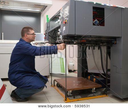 Printer At The New Printed Machine