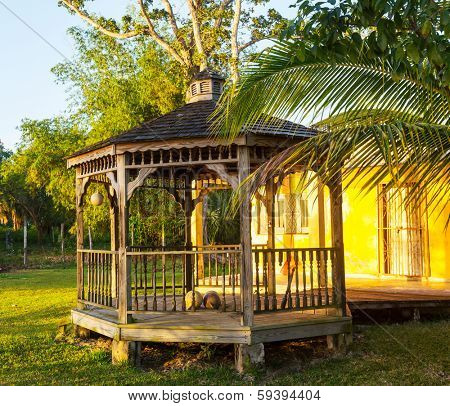 summerhouse in garden