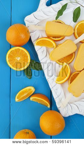 Orange Popsicle Ice Cream Bars