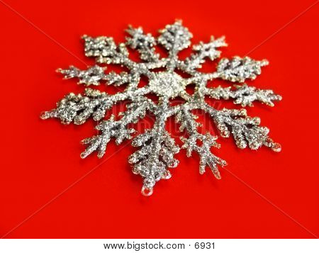 Snowflake On Red