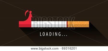 Cigarette Loading To Death