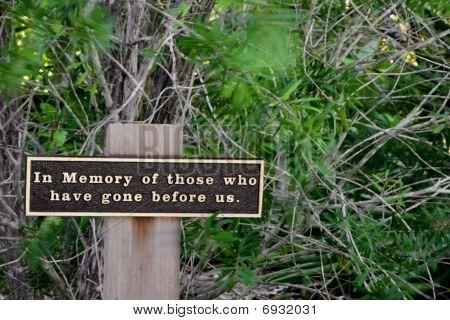In Memory Sign