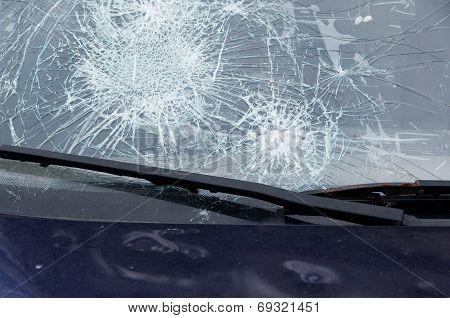 Hail on car