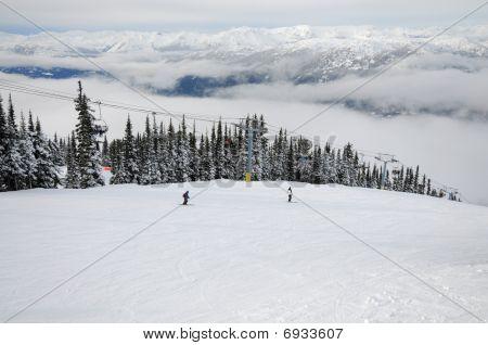 Skiing At Whistler-blackcomb Resort