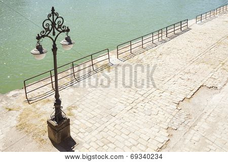 Vintage Lamppost At The Dock