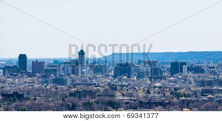 Hamilton City And Escarpment Skyline.