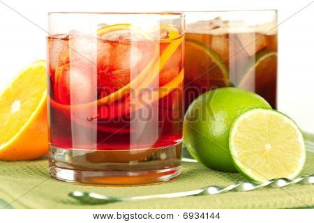 Alcohol Cocktail Collection - Negroni And Cuba Libre