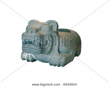 Stone Bowl Of The Aztecs In The Form Of A Jaguar