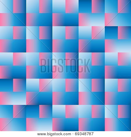 Squares - Multi Gradients - Blue And Pink
