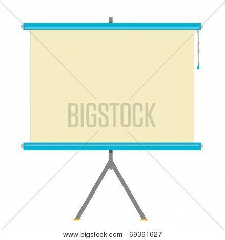 Flat Projector Screen Vector