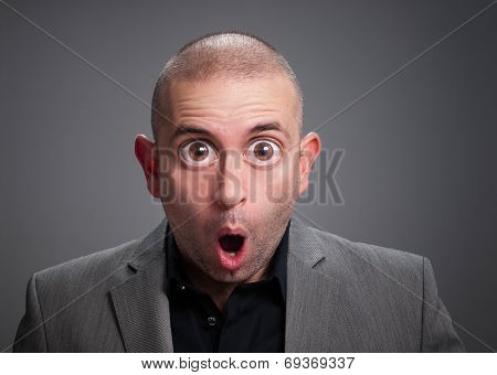 Businessman With Surprise Expression.
