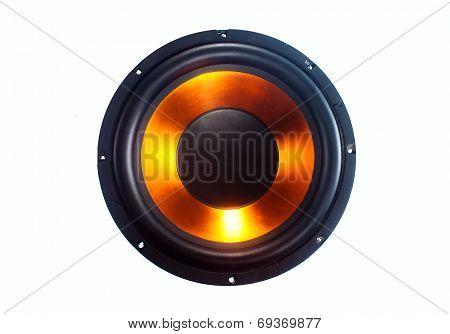 Subwoofer speaker isolated