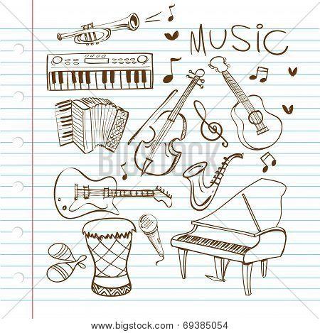 Music Instruments Doodle