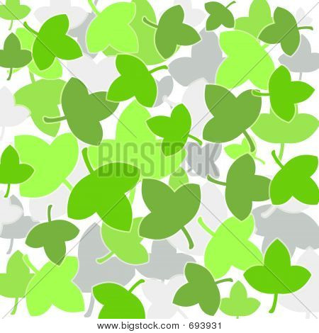 Spring green leaves poster
