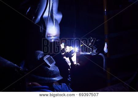 Argon-arc Welding Man