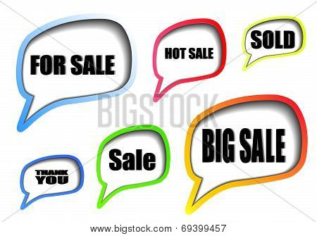Best sale speech bubbles set