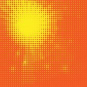 Abstract Sun Halftone Background, vector illustration for your design poster
