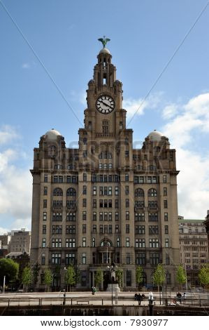 The Royal Liver Building on the Liverpool waterfront