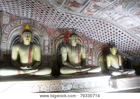 Cave Buddhas of Dambulla