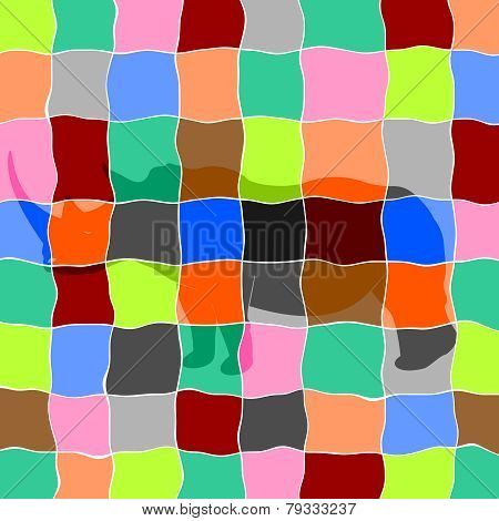 Rhinoceros In Mosaic