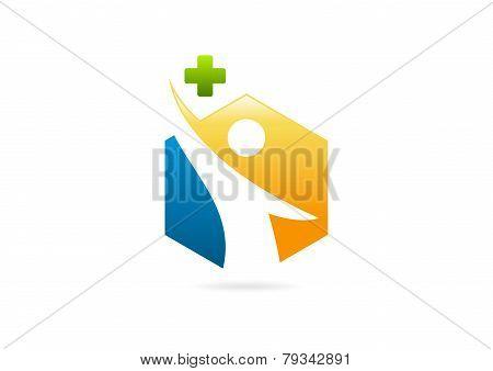 cross pharmacy body health logo