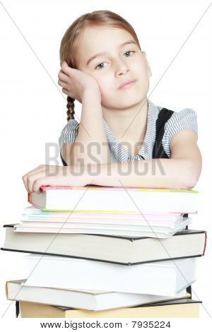 Girl With Books.