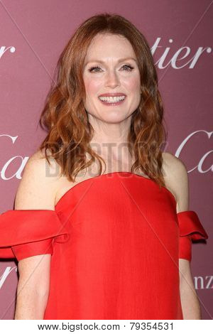 LOS ANGELES - JAN 3:  Julianne Moore at the Palm Springs Film Festival Gala at a Convention Center on January 3, 2014 in Palm Springs, CA