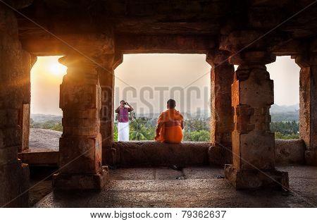 Photo In Hampi Temple