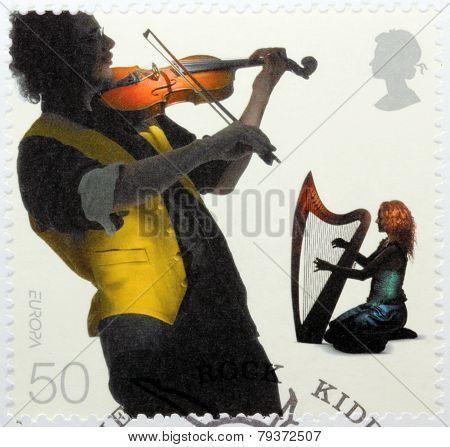 Fiddler And Harpist