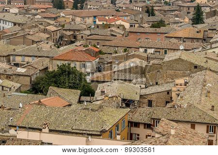 View over a village in Tuscany, Italy