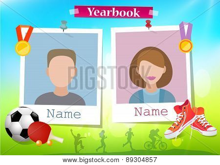 School album yearbook and sport